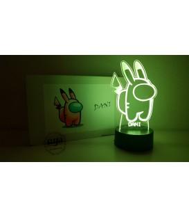Lámpara Among Us Pikachu