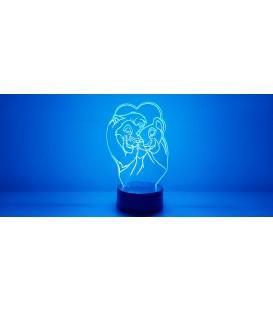 Lámpara Simba & Nala