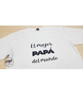 """Camiseta """"El mejor Papá del mundo"""""""