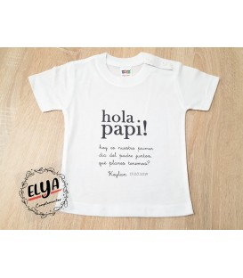 "Camiseta niño ""Hola Papi"""