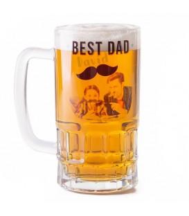 Jarra de cerveza con foto