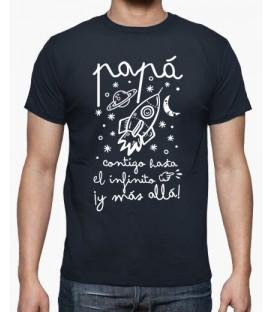 """Camiseta """"Papá infinito"""""""