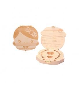 Cajita de madera guardadientes