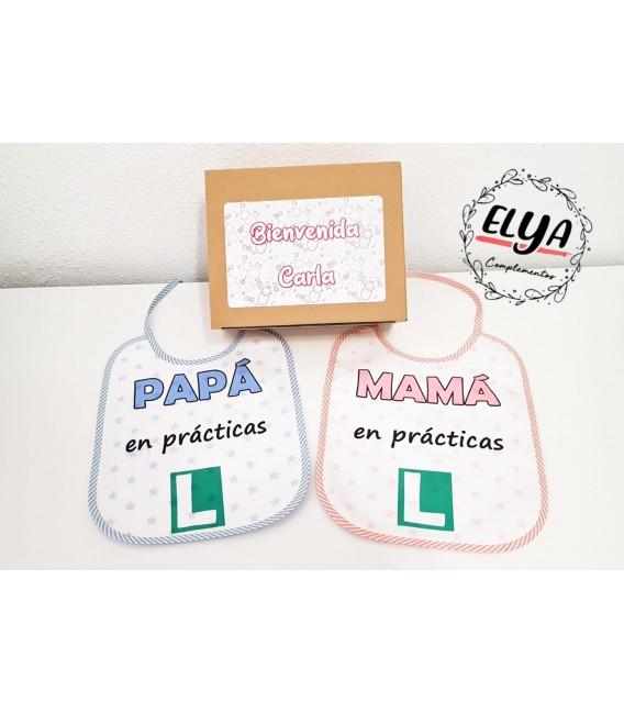 Pack babero papá +mamá practicas