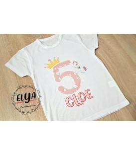 Camiseta niño cumpleaños unicornio