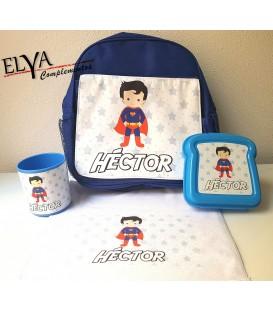 Pack mochila superheroe