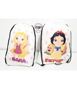 Mochila saco Princesas/ Príncipes Disney