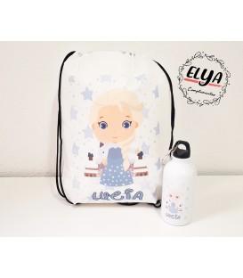 Pack Bidón 400ml + Mochila saco Princesas/ Príncipes Disney