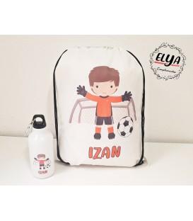 Pack Bidón 400ml + Mochila saco fútbol